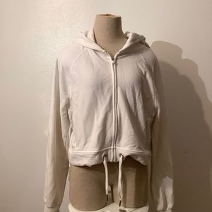 White A+F hoodie - size M
